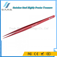 BST-11C Highly Precise Colored Professional Stainless Steel Tweezers