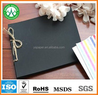 Best price black paper/black paperboard for note book