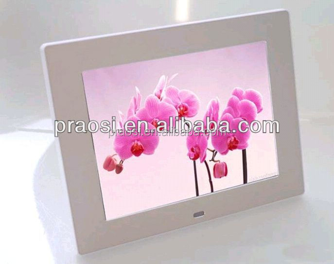digital photo viewer sd card 8 inch / video photo frame with digital music
