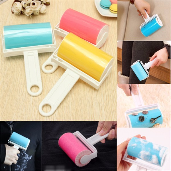 Washable Lint Sticky Clothes Roller Brush