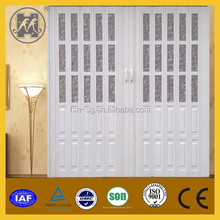 Insulated accordion folding door with lock
