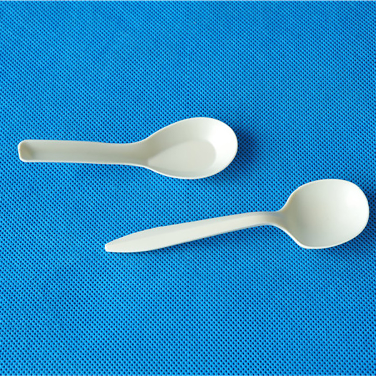 Professional disposable folding spoon chinese soup spoons rice