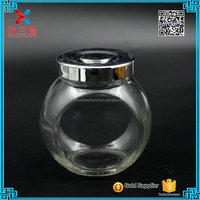 Wholesale food grade drum design mini glass storage jar 350ml