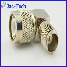 Factory price brass mamerial TNC male to TNC female 90 degree coaxial connector