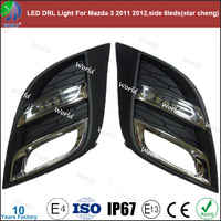 Special led drl light,with turn function,white,led drl for Mazda 3 2011 2012,side 6leds(star cheng)