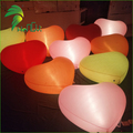Party Wedding Decoration Helium Floating  Inflatable Lighting PVC Heart Balloon