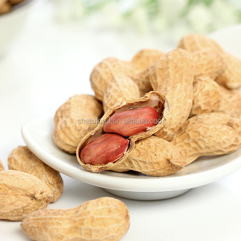 Leisure food sweet creamy taste big kernel baked peanut in shell