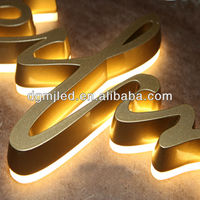 gold painted color back lit styles of different letters