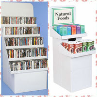 folding display stand Plastic corrugated sheet /Coreflute /Coroplast/ Correx Floor CD/DVD Displays