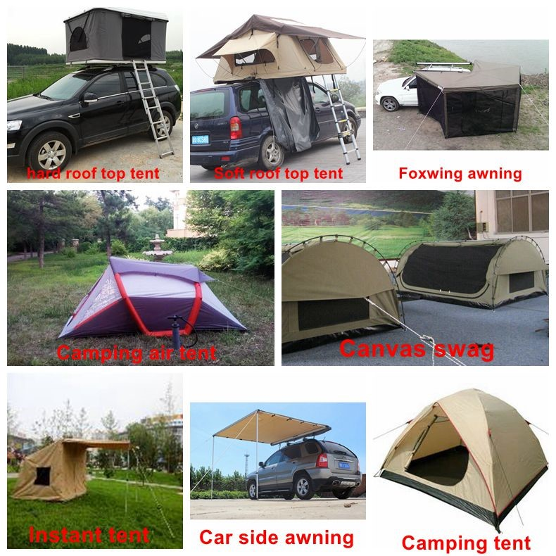 Luxury safari camping trailer soft round car top roof tent