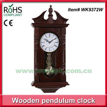 Chiming Regulator Wall Clock with Swinging Pendulum
