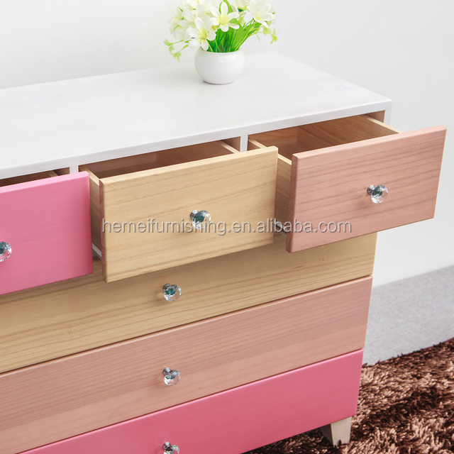 customize wooden furniture paulownia wooden and modern designed chest of drawers
