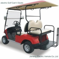 Electric Golf Cart JN2028KSZ 4 seater golf cart with rear foldable seat
