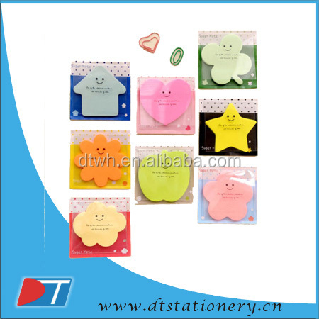 customized shape colour cute sticky memo pad for students