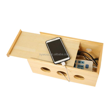 used for home Natural wood electricity wire power storage box