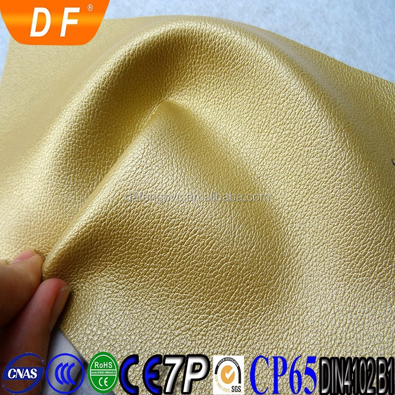 2016 paper pvc synthetic leather for Sofa Upholstery Artificial Leather PVC Printed Sipi Leather with cotton cloth backing