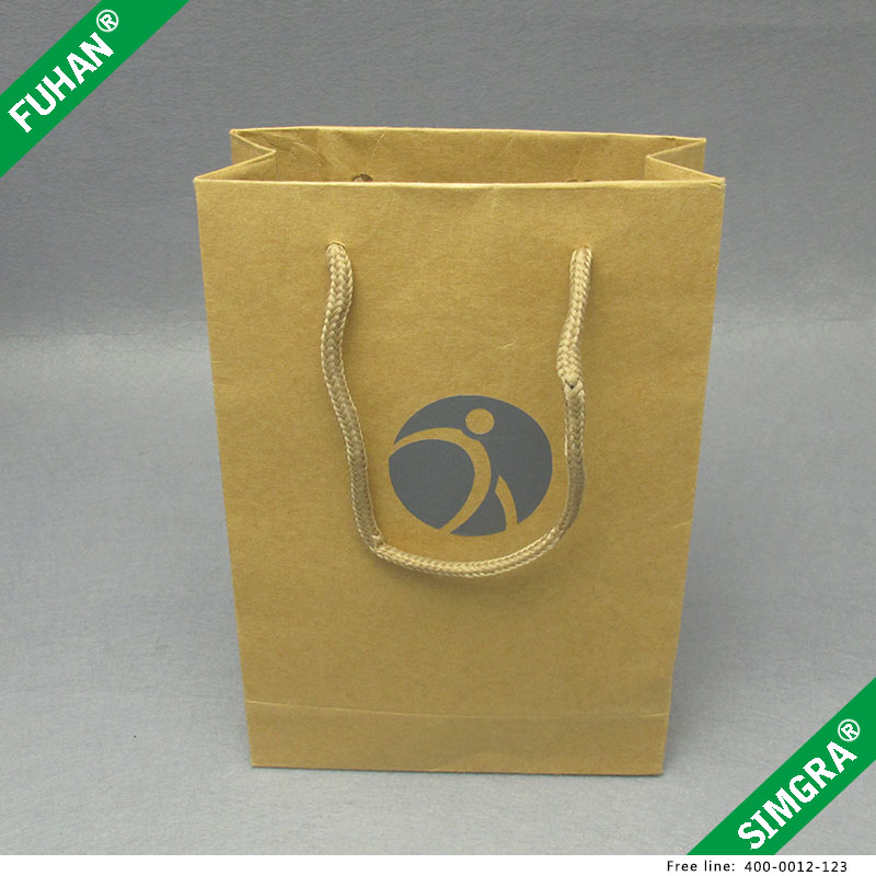 Custom Hot Sale Brown Kraft Paper Shopping Bag With Logo
