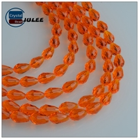 Chinese crystal beads wholesale kinds color Transparent water drop beads