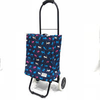 Grocery Shopping Cart Trolley Bag,Foldable and Reusable, With Smooth Running Wheels