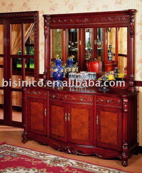 graceful antique french style solid wood sideboard B46103