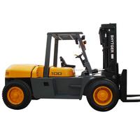 Hytger Triplex Mast Used 10Ton Manual Hydraulic Diesel Forklift Sales
