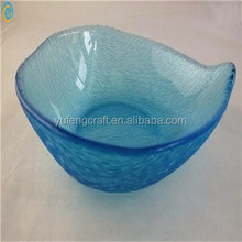 high quality beautiful blue glass salad bowl wholesale wedding charger plates modern dinnerware