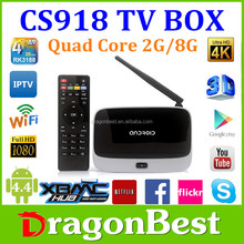 Dual Core Amlogic Aml8726-Mx TV Box CS918 Full Hd Media Player Arabic IPTV Apk