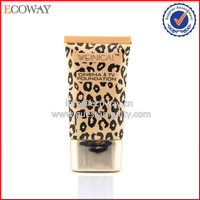 cosmetic plastic tube Leopard grain color on spill hotel shampoo tubes
