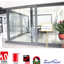 China Manufacturer Used Commercial Design Aluminum Double Glass Lift & Sliding Door