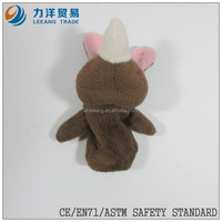 Plush finger puppets-coffe color, Customised toys,CE/ASTM safety stardard
