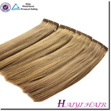 Wholesale Double Drawn Very Thick Human Hair hair attachment and weaving