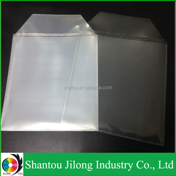 JILONG YIZU Transparent Plastics PP CPP CD Cover Clear CD Pocket/Good Qulaity DVD Plastic CD Sleeves