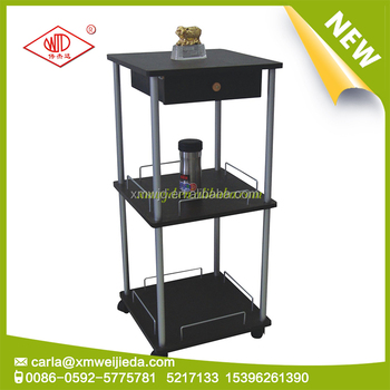 new year new product 3 tier shelving mobile metal tier shelving