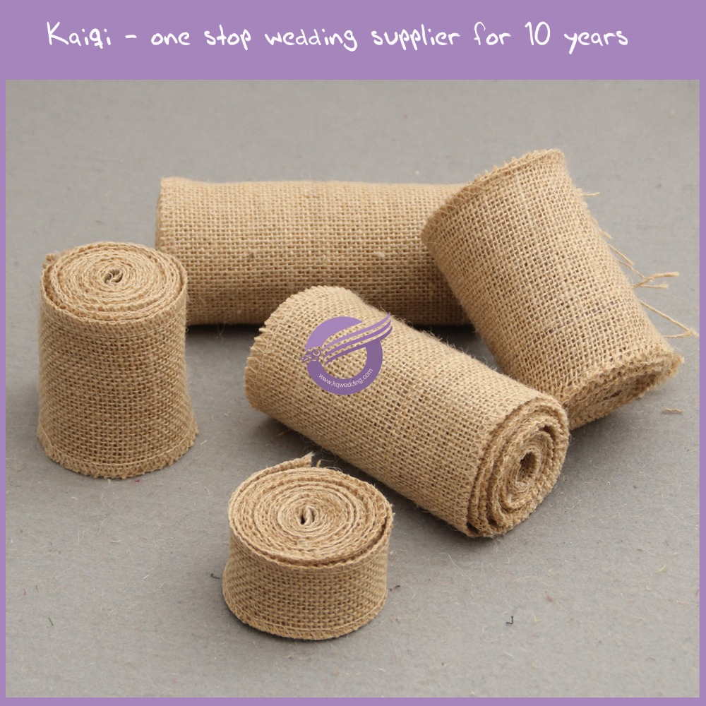 KB164 home and wedding decorative Jute burlap fabric roll for sale