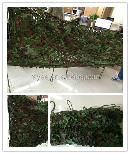 high quality 210D polyester 150gsm military Multispectral radar camouflage net on sale ,shadows Camuflaje/red de camuflaje