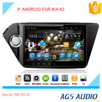 "9"" HD digital in-dash android car GPS DVD player for KIA K2 with TV,radio, bluetooth, iPOD"