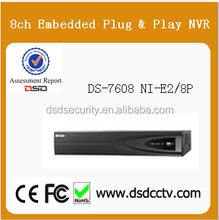 hikvision 8ch nvr ,8PoE DS-7608NI-E2/8P