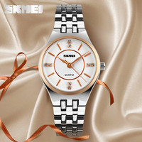 factory promotional gifts women wristwatch stainless steel back lady hand watch