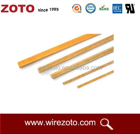 glass fiber/polyimide film covered flat copper(aluminium) wire,glass fiber rectangular wire,fiberlgass/yarn flat wire