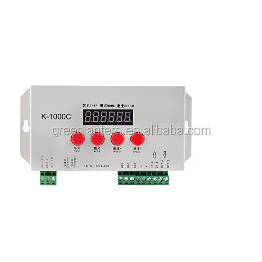 K-1000C WS2812B LED RGB Controller, T-1000S upgraded version, compatible with WS2812B APA102 SK6812 WS2811 WS2801