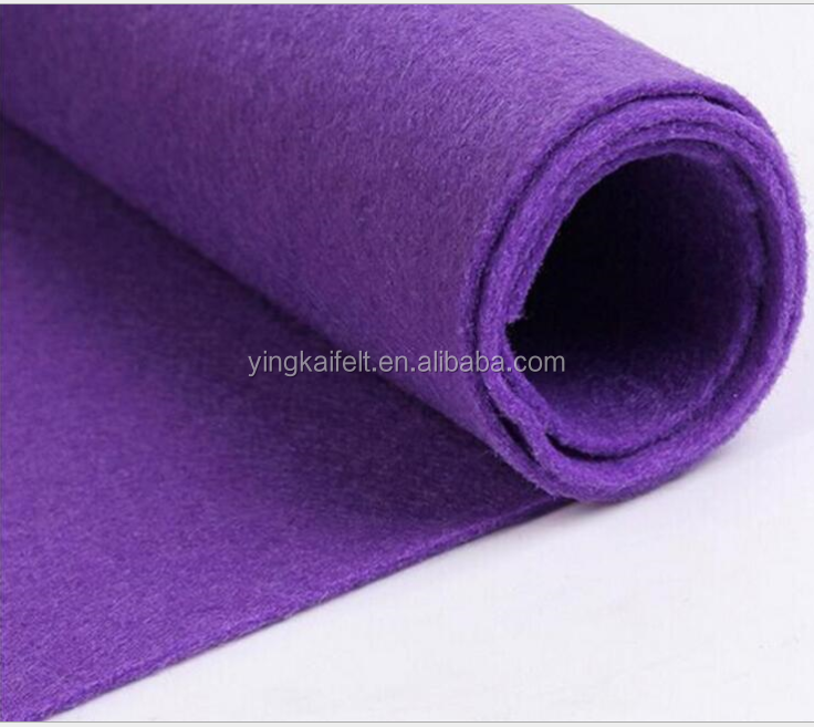 Factory nonwoven fabric 3mm 5mm thickn 100% wool felt of needle punched promotional colorful 1mm 2mm 3mm 4mm felt wholesale