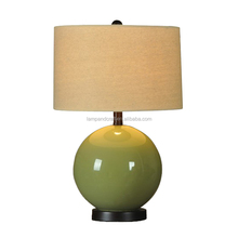 CE ROHS UL home goods aqua green table lamp with fabric shade hot selling desk table lamp for Surinam