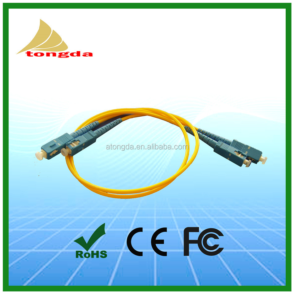 Single mode 3M SC to LC / FC / ST PC / UPC Fiber Optic Jumper Armored Patch Cord