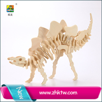 2015 toywins stegosaurus wooden educational toy 3d wooden puzzle