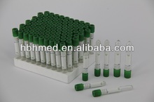 PET and glass heparin lithium tube