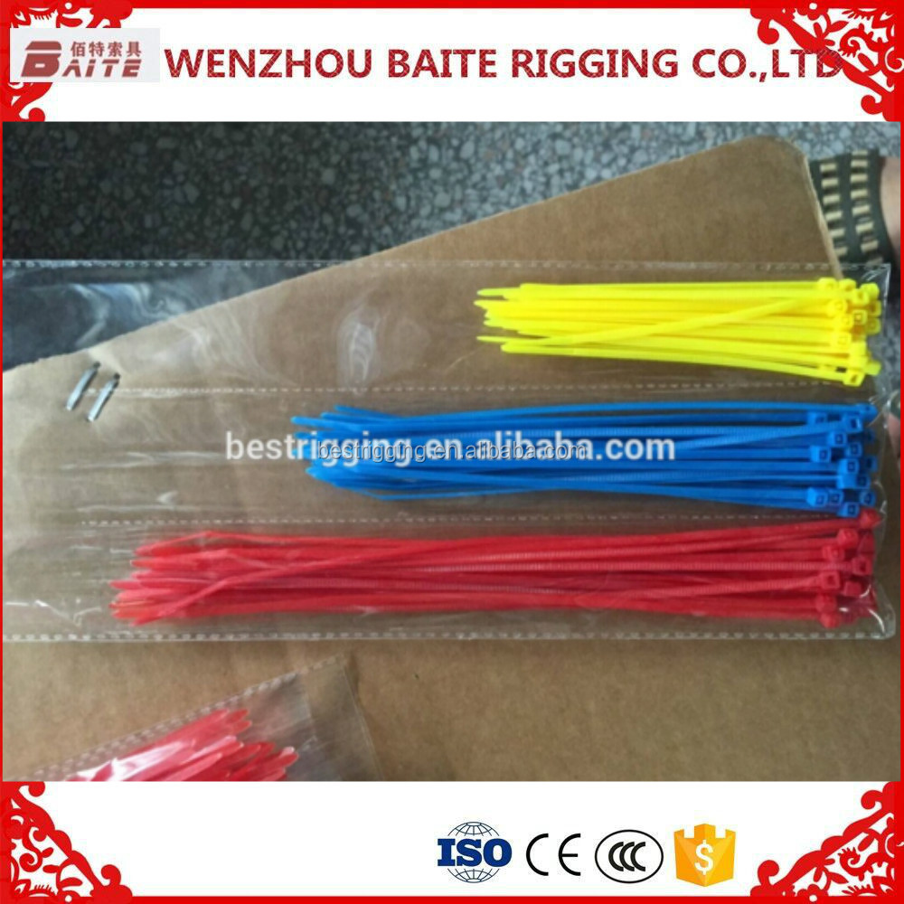 Factory Price Colorful Rohs Certificate Self-locking Nylon Cable Ties
