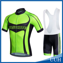 wholesale cycling jersey sublimation cycling jersey green men's summer bike clothes set