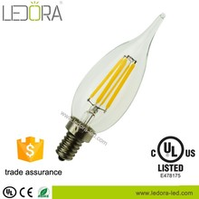 High lumen crystal led candle bulb e27 home lighting for chandelier