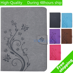 For Apple iPad mini 4 mini4 Emboss Lavender Flower Fashion Painted With Stand Flip PU Leathers Case Smart Case