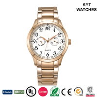 KYT classic elegance arabic dal 10atm water resistant quartz stainless steel case back watch